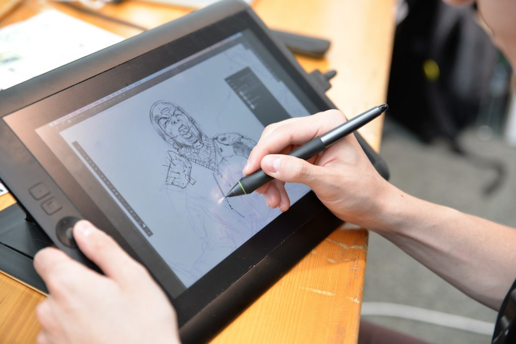 dibujar con tableta gráfica